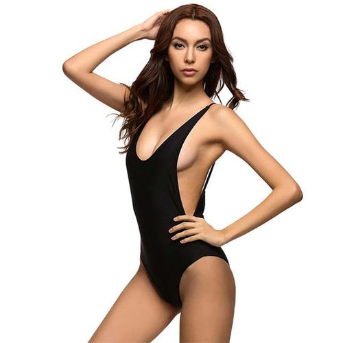 Lua Black One Piece Swimsuit - Fashion Genie Boutique USA Alt