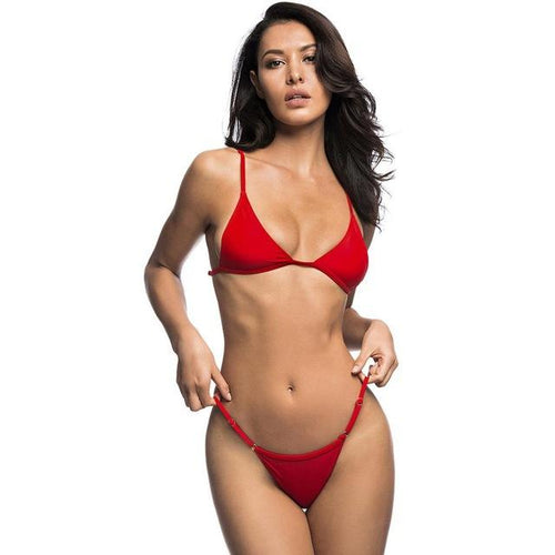 Itty Bitty Red Bikini Swimsuit - Fashion Genie Boutique
