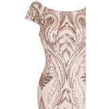 Candy Rose Gold Sequin Maxi Gown Dress - Fashion Genie Boutique
