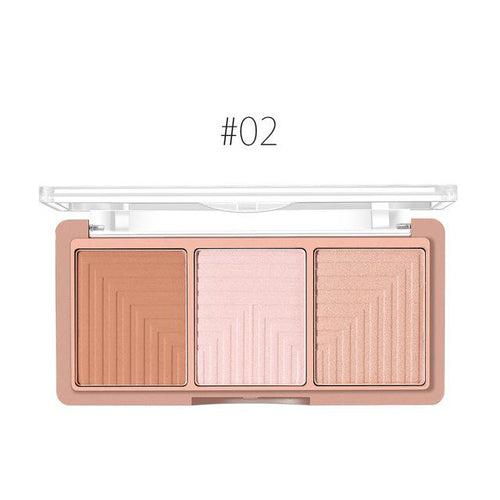 O.TWO.O 4 Colour Contour Blush Highlighter Palette - Fashion Genie Boutique