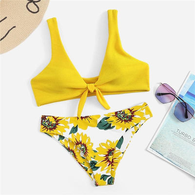 Gigi Yellow Bikini Swimsuit - Fashion Genie Boutique