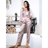 Miss Tease Nude Snake Print Long Sleeve Jumpsuit