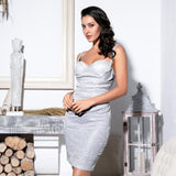 Always There Silver Glitter Mini Party Dress - Fashion Genie Boutique