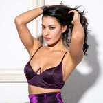 Missing You Purple Metallic Bralet Top - Fashion Genie Boutique