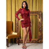 So Adorable Red Long Sleeve Mini Dress - Fashion Genie Boutique