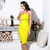 Big City Yellow Irregular Mini Dress - Fashion Genie Boutique