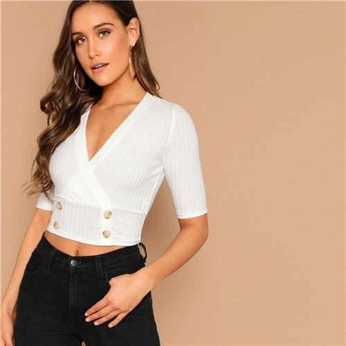New Lust White Bardot Crop Top - Fashion Genie Boutique
