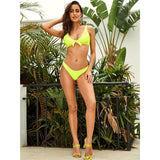 Sugar Rush Neon Green Bikini Swimsuit - Fashion Genie Boutique