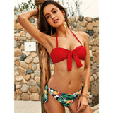 Beach Bum Red Halter Bikini Swimsuit - Fashion Genie Boutique