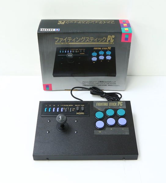 "PC Engine Hori Fighting Stick PC Game Controller Boxed ""Excellent +++ New"""