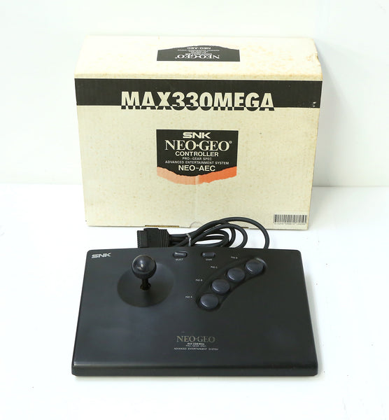 "SNK Neo Geo AES Max 330 Mega Stick Controller Boxed ""Excellent ++"""