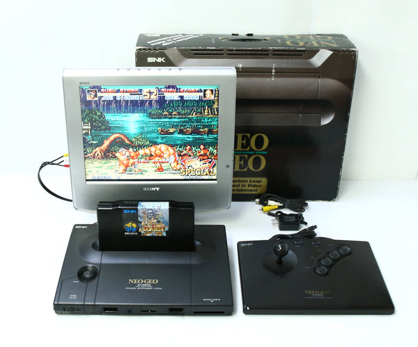 "SNK Neo Geo AES Game Console Boxed Uni Bios 3.2 System ""Excellent +++"""