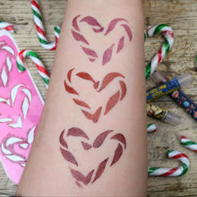 Candy Cane Hearts - 3 Pan Stencil