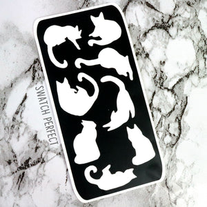 Cats - 8 Pan Stencil