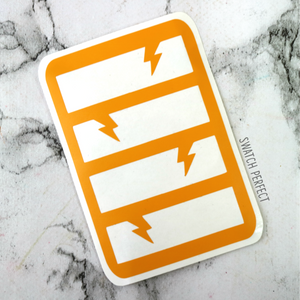 Cutout Lightning Bolts Stripes - 4 Pan Stencil