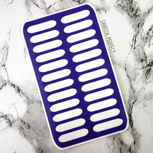 Double Rounded Stripes - 24 Pan Stencil