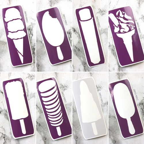 Ice Lolly Single Stencils