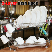 Load image into Gallery viewer, Dual Layers Dish Drying Organizer