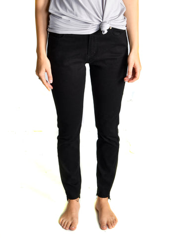 Released Step Hem Everyday Skinnies - Black