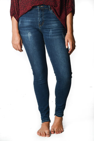 Released Step Hem Everyday Skinnies - Distressed Ocean