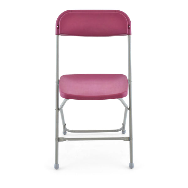 TitanPRO Plastic Folding Chair-Burgundy