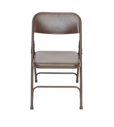 Titan Series Premium Triple-Braced Steel Folding Chair - Brown