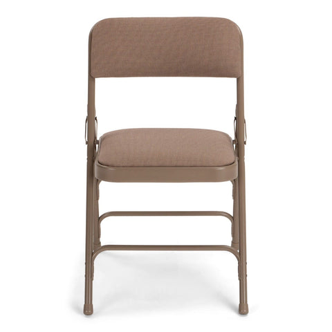 Titan Series Premium Triple-Braced Fabric Padded Metal Folding Chair - Beige