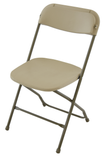 TitanPRO Plastic Folding Chair-Cream