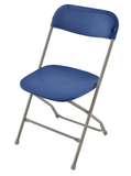 TitanPRO Plastic Folding Chair-Royal Blue