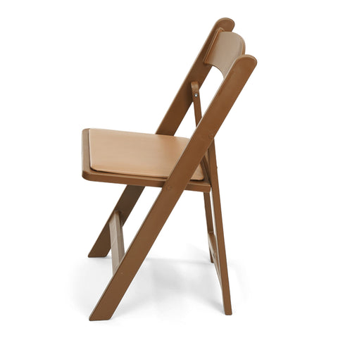 TitanPRO Brown Resin Folding Chair