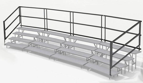 Rear Guard Rails for 42' 4 Tier Choral Risers
