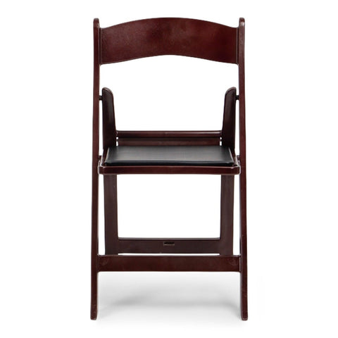 TitanPRO Mahogany Resin Folding Chair