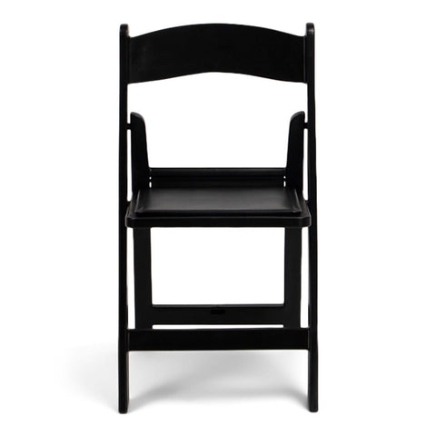 TitanPRO Black Resin Folding Chair