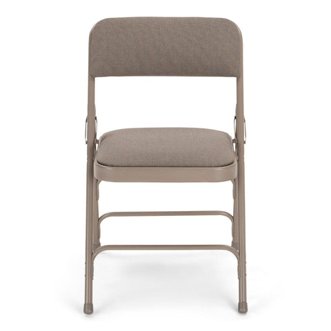 Titan Series Premium Triple-Braced Fabric Padded Metal Folding Chair - Grey