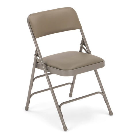 Titan Series Premium Triple-Braced Vinyl Padded Metal Folding Chair - Grey