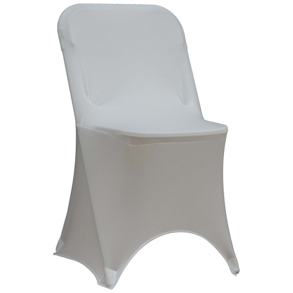 Spandex Folding Chair Cover - White