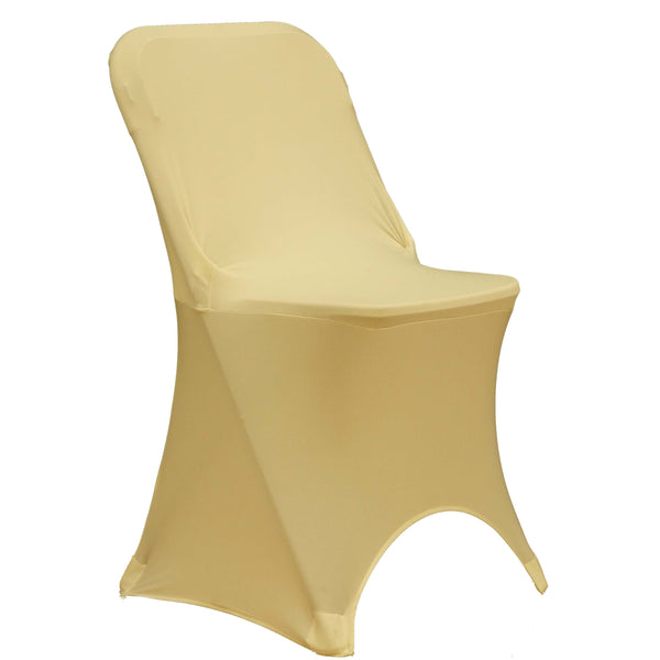 Spandex Folding Chair Cover - Ivory