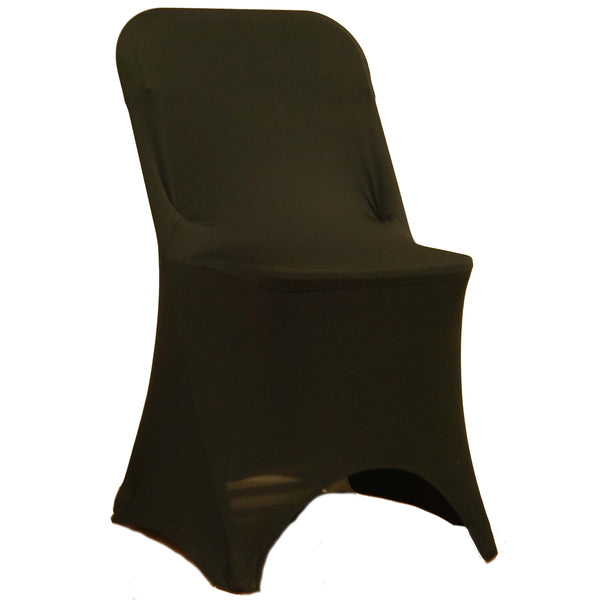 Spandex Folding Chair Cover - Black
