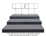 3 Tier Descending ChairStop Package for Straight Seated Risers
