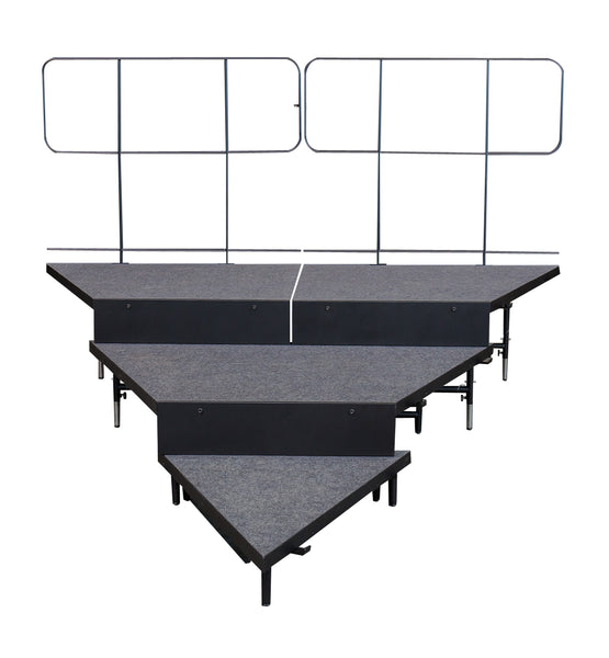 3 Tier Descending ChairStop Package for Wedged Seated Risers