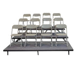3 TIER STRAIGHT SEATED RISERS
