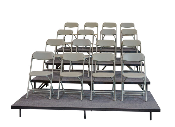 4 TIER STRAIGHT SEATED RISERS