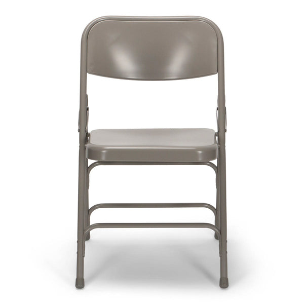 Titan Series Premium Triple-Braced Steel Folding Chair - Grey