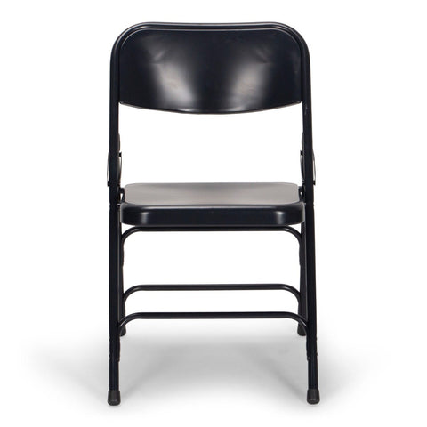 Titan Series Premium Triple-Braced Steel Folding Chair - Navy