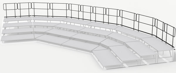 Rear Guard Rails for 4 Tier Seated Riser System