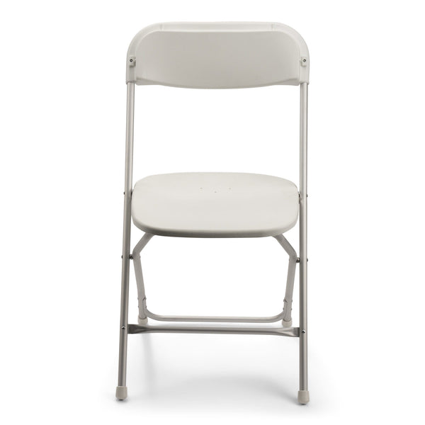 TitanPRO Aluminum Plastic Folding Chair-White