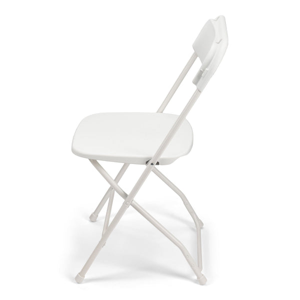 TitanPRO Plastic Folding Chair-White