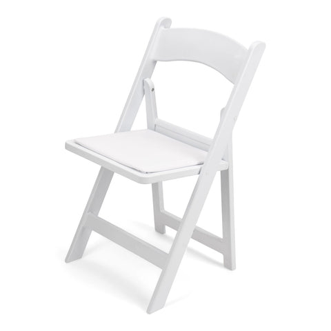TitanPRO White Resin Folding Chair