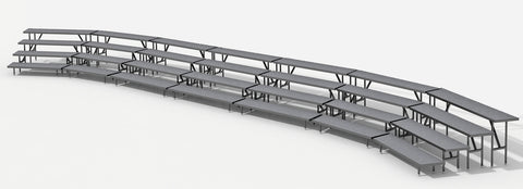 4 Tier Choral Riser System- 42' Long (fits 100 to 124 People)