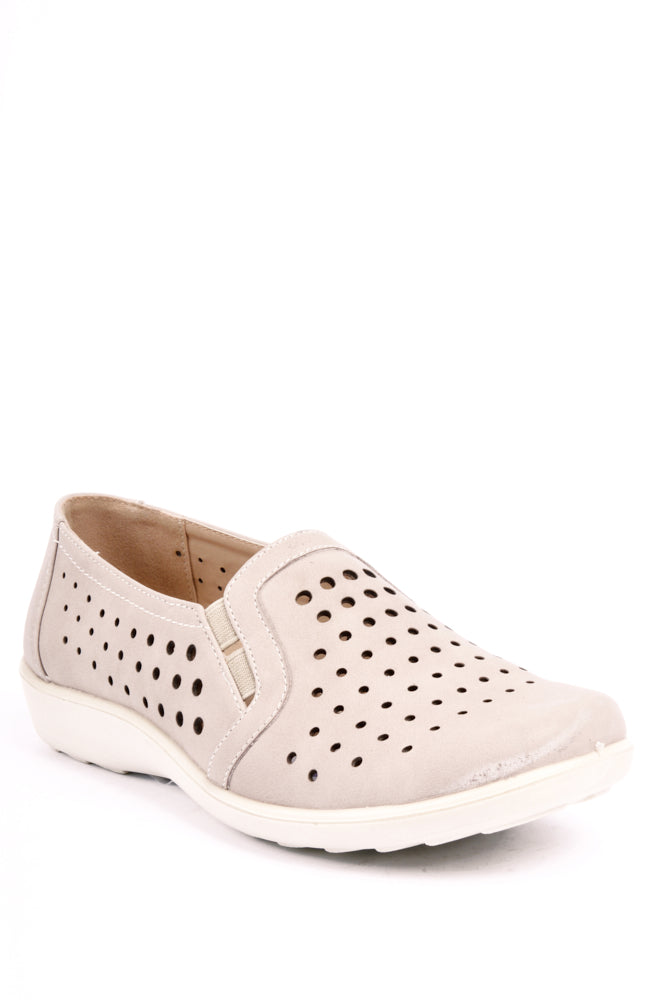 Charlotte Taupe Dr Lightfoot Shoe